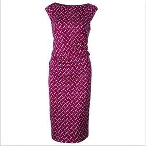 DVF Gabi Jersey Dress Pink Size 2 Silk